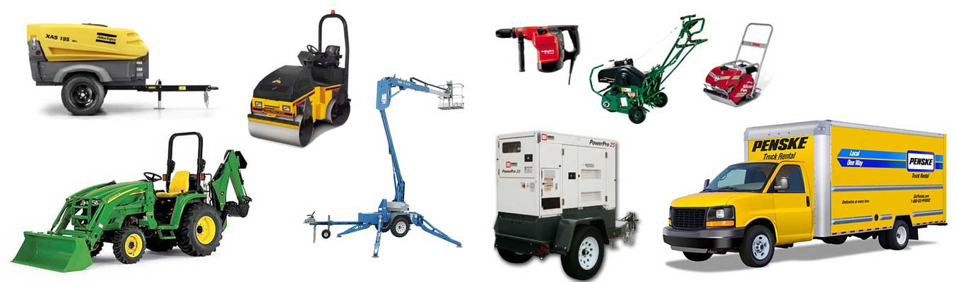 Equipment rentals in Montgomery New Jersey, Bridgewater, Princeton NJ, Bedminster, Branchburg, Hillsborough