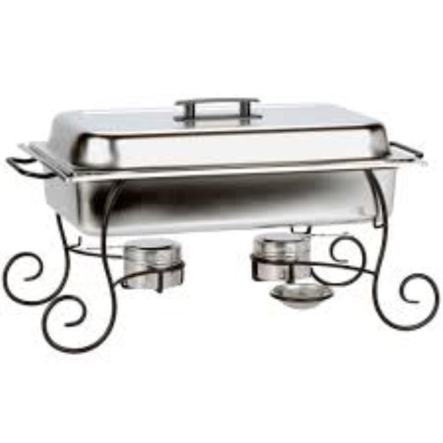 Where to find CHAFER, 8 QT BLACK SCROLL in Hillsborough