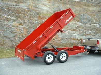 Where to find DUMP TRAILER  7300 LB  RED in Hillsborough