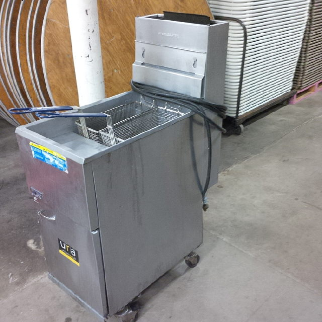Where to find FRYER, DOUBLE BASKET, 45lb  LP in Hillsborough