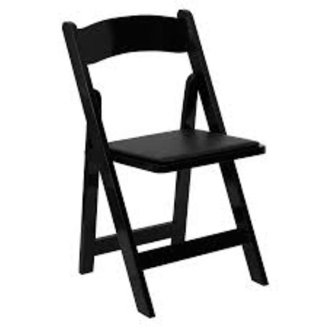 Where to find BLACK RESIN PADDED CHAIR in Hillsborough