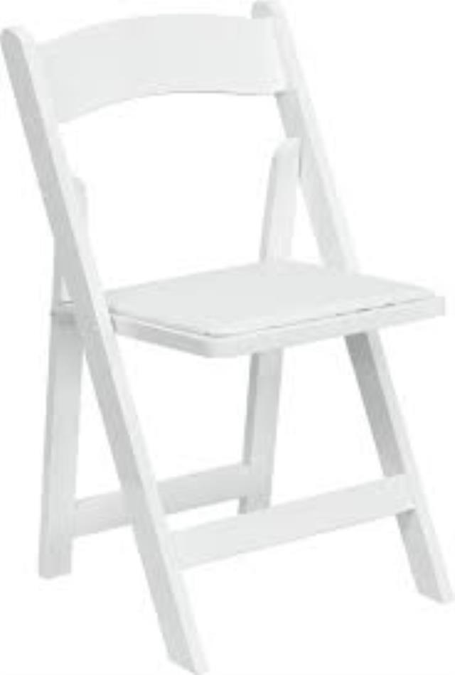 Where to find WHITE RESIN PADDED CHAIR in Hillsborough